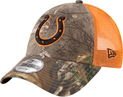 dbe2732f997 New Era Men s Indianapolis Colts Real Tree 9Forty Orange Camo Adjustable  Trucker Hat. noImageFound. Previous