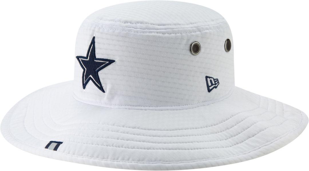 457ac0e5 New Era Men's Dallas Cowboys Sideline Training Camp Panama White Bucket Hat