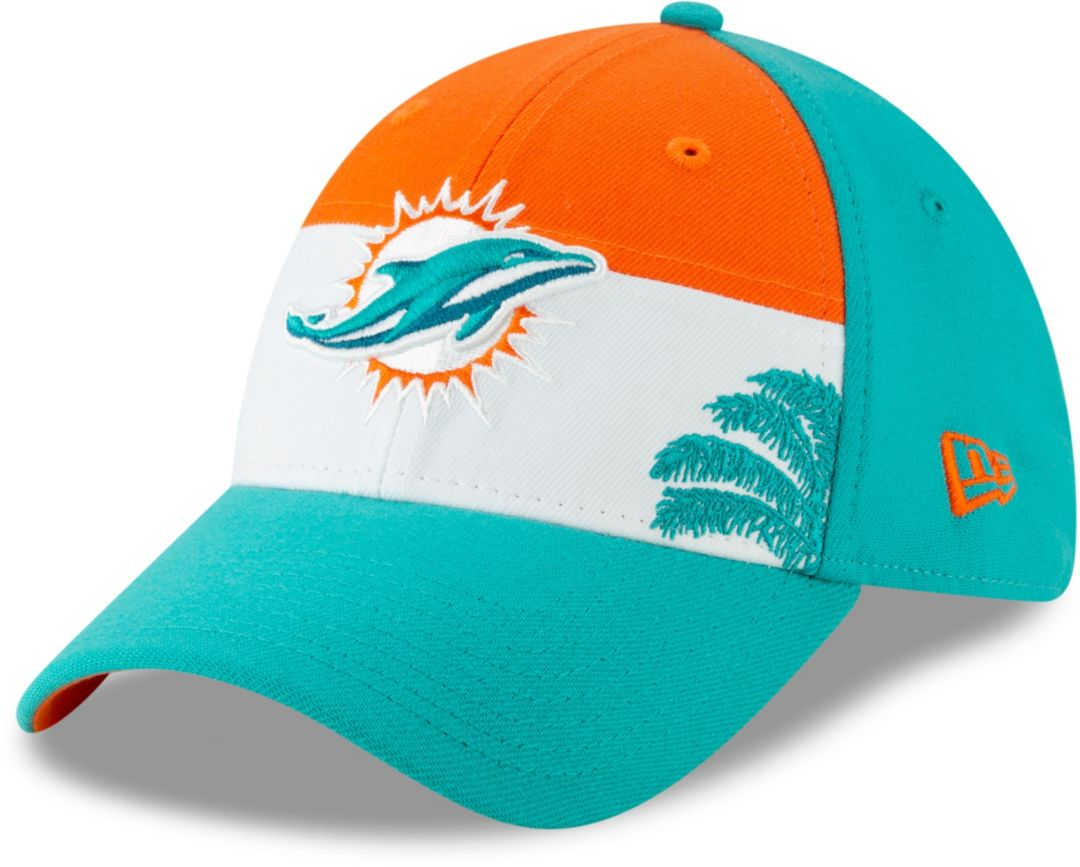 check out 6f7ef fce9a New Era Men s Miami Dolphins 2019 NFL Draft 39Thirty Stretch Fit Aqua Hat.  noImageFound. Previous