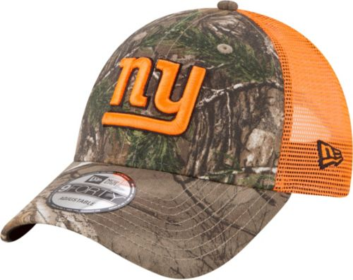 New Era Men s New York Giants Real Tree 9Forty Orange Camo ... 058f8ac4b47