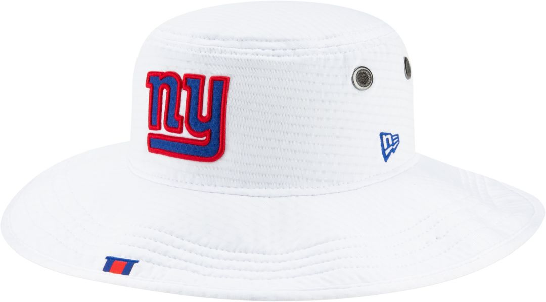 4b319e4a9 New Era Men's New York Giants Sideline Training Camp Panama White Bucket Hat