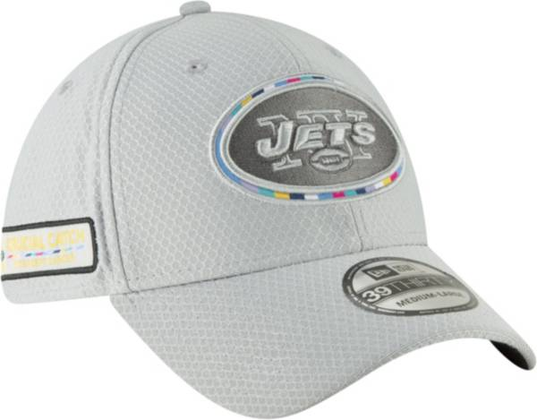 New Era Men's Crucial Catch New York Jets Sideline 39Thirty White Stretch Fit Hat product image