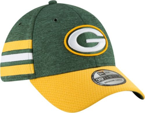 New Era Men s Green Bay Packers Sideline Home 39Thirty Green Stretch ... b80a7ca01f4