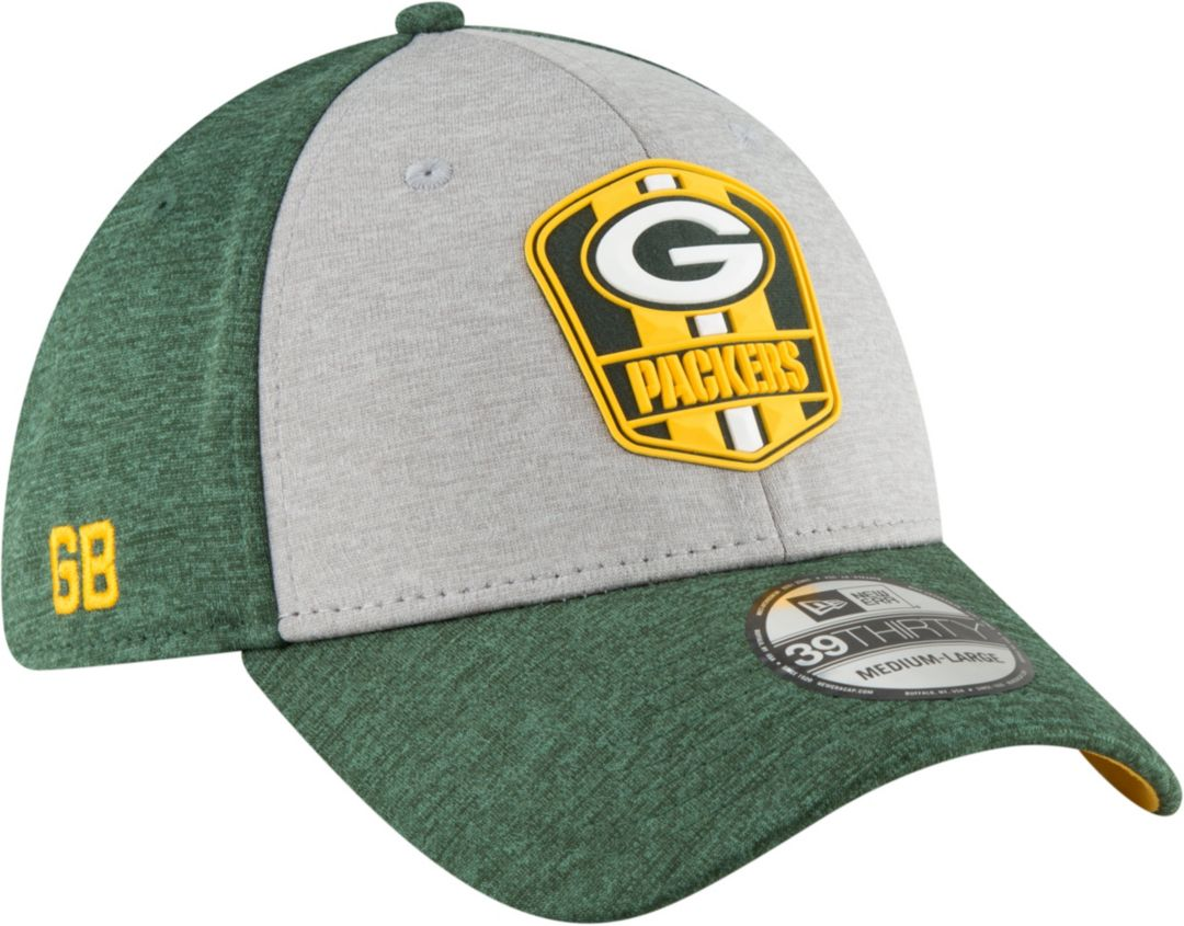 1b8139b2 New Era Men's Green Bay Packers Sideline Road 39Thirty Stretch Fit Hat