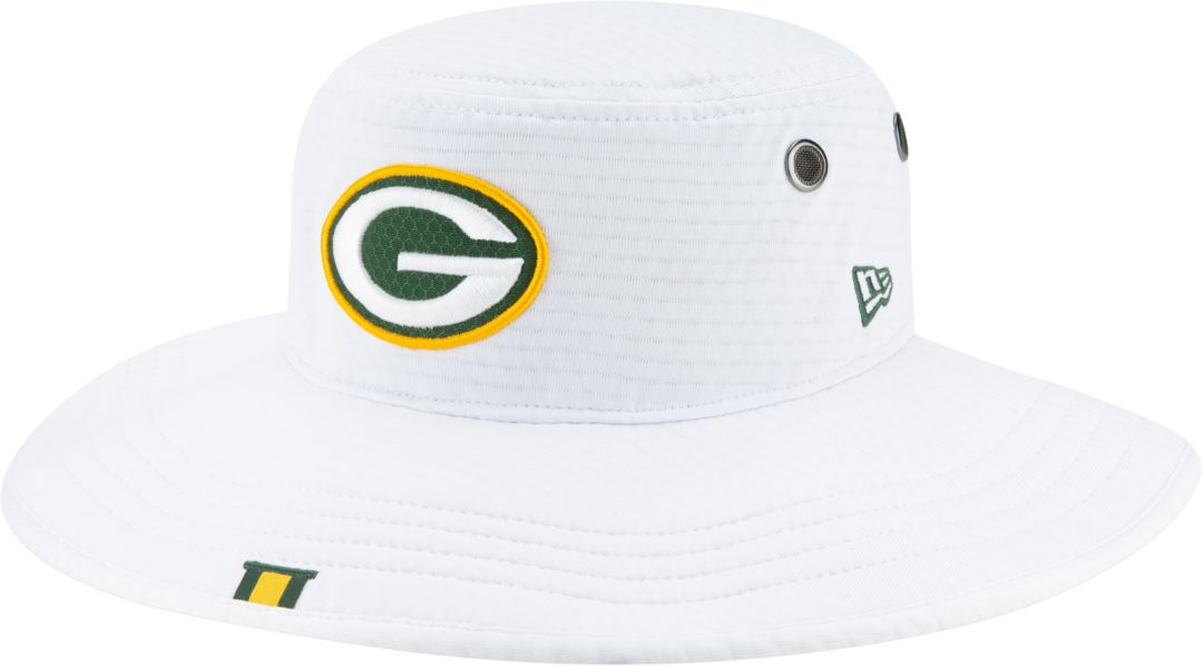 22801b916 New Era Men's Green Bay Packers Sideline Training Camp Panama White Bucket  Hat