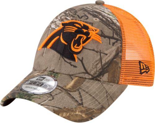 ... Carolina Panthers Real Tree 9Forty Orange Camo Adjustable Trucker Hat.  noImageFound. Previous 42fdf1bdb