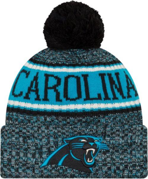 New Era Men s Carolina Panthers Sideline Cold Weather Reverse Black ... 41426429960