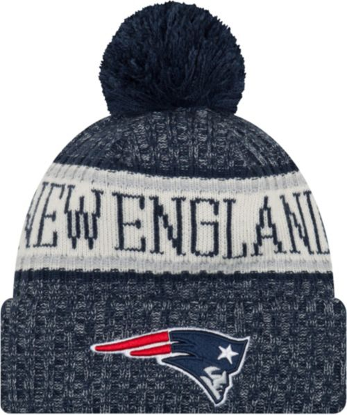 New Era Men s New England Patriots Sideline Cold Weather Navy Sport Knit  4d42be94a
