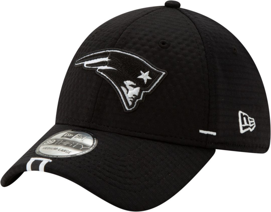 best website 10cae af646 New Era Men s New England Patriots Sideline Training Camp 39Thirty Stretch  Fit Black Hat. noImageFound. Previous