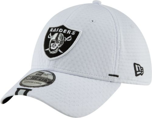 super popular ce18c 6ebc6 New Era Men s Oakland Raiders Sideline Training Camp 39Thirty Stretch Fit  White Hat. noImageFound. Previous