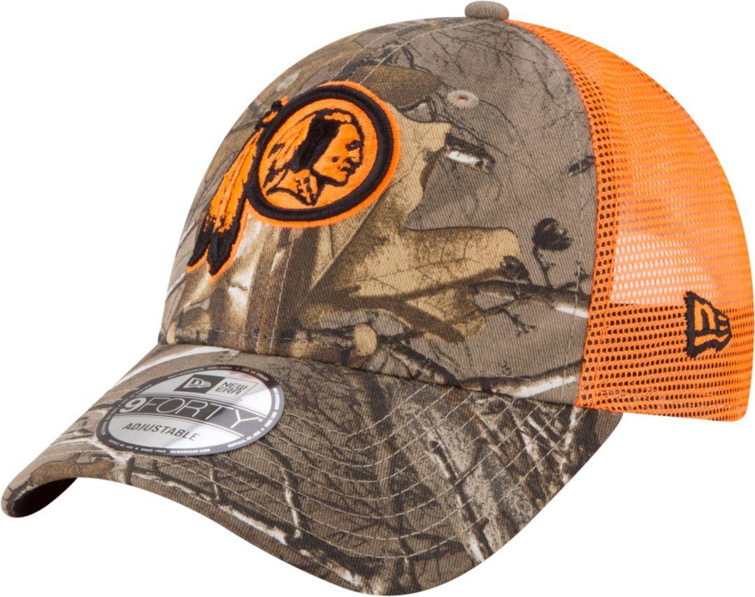 reputable site 1495c 07fb3 New Era Men s Washington Redskins Real Tree 9Forty Orange Camo Adjustable  Trucker Hat. noImageFound. Previous. 1. 2. 3