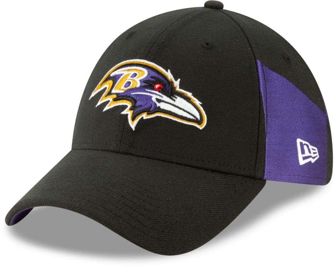 959d0bf2 New Era Men's Baltimore Ravens 2019 NFL Draft 39Thirty Stretch Fit Black Hat