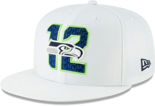 82376694acca1 New Era Men s Seattle Seahawks 2019 NFL Draft 9Fifty Snapback Adjustable  White Hat. noImageFound. Previous