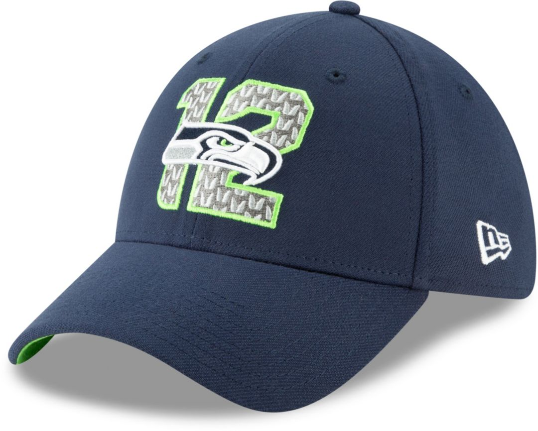timeless design 39366 2eed6 New Era Men s Seattle Seahawks 2019 NFL Draft 39Thirty Stretch Fit Navy Hat.  noImageFound. Previous