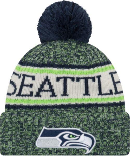 b0914e10816 New Era Men s Seattle Seahawks Sideline Cold Weather Navy Sport Knit.  noImageFound. Previous