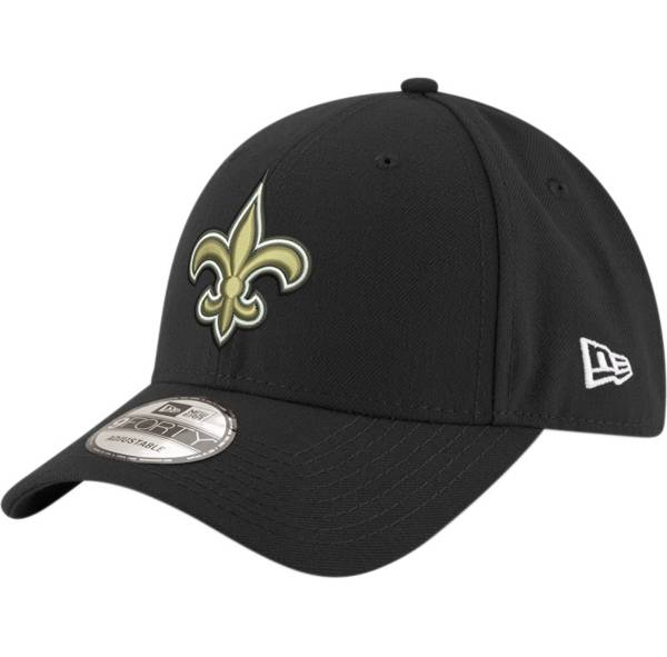 New Era Men's New Orleans Saints 9Forty Black Adjustable Hat product image