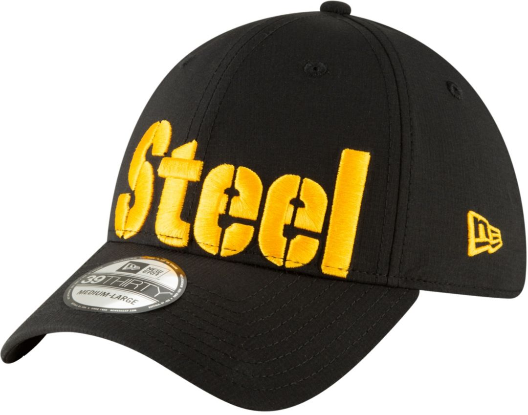 435e2b975528f2 New Era Men's Pittsburgh Steelers 'Designed by JuJu' 39Thirty Black Stretch  Fit Hat. noImageFound. Previous