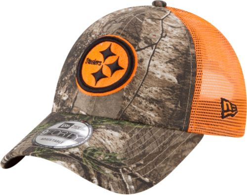 2edb0bfe71cc4 ... Pittsburgh Steelers Real Tree 9Forty Orange Camo Adjustable Trucker Hat.  noImageFound. Previous