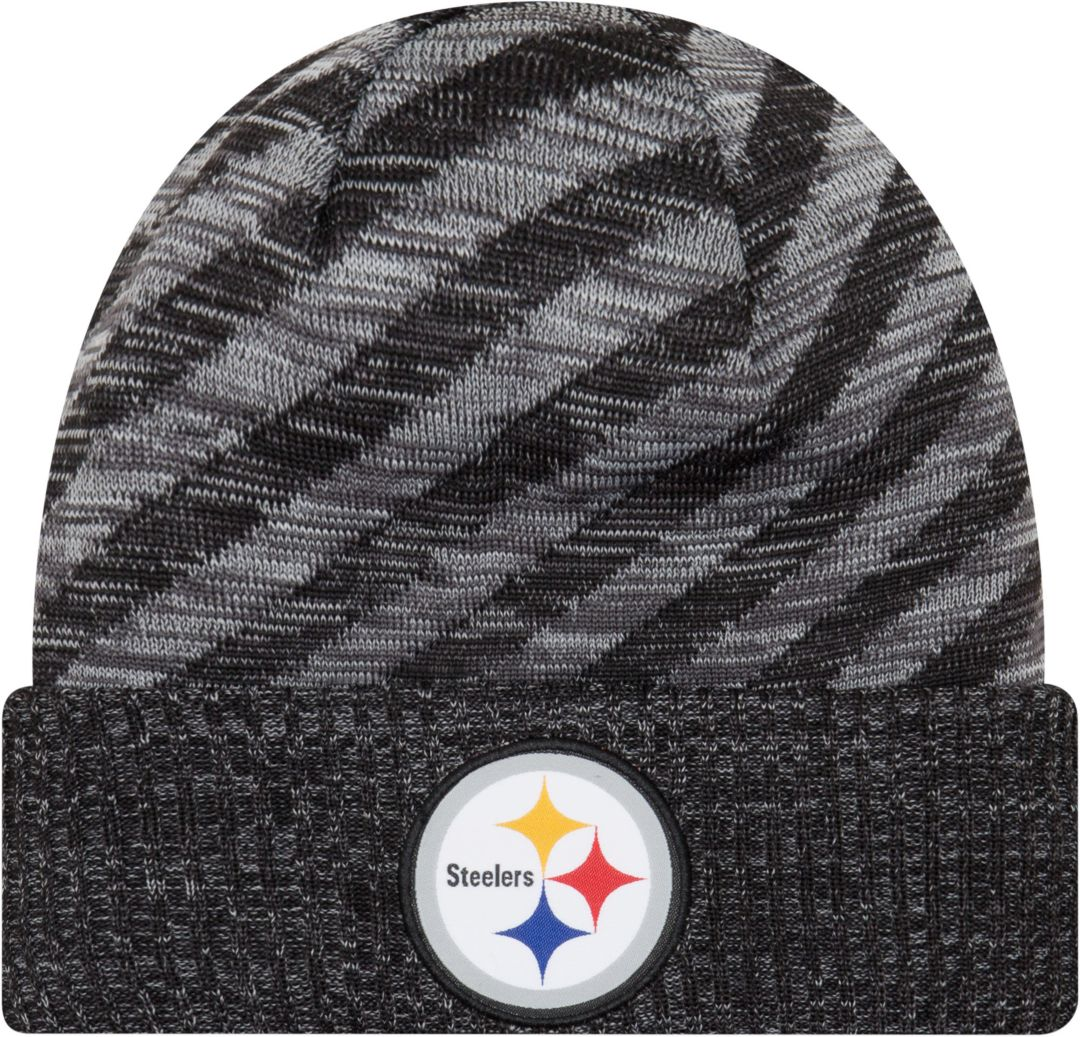 5cc405a3 New Era Men's Pittsburgh Steelers Sideline Cold Weather TD Black Knit