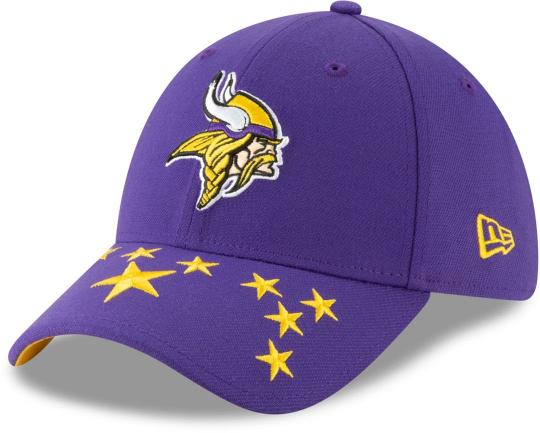 24982e9381c140 New Era Men's Minnesota Vikings 2019 NFL Draft 39Thirty Stretch Fit Purple  Hat. noImageFound. Previous