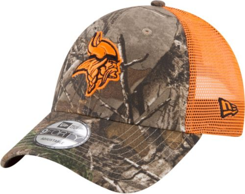 4f99ffc299 New Era Men s Minnesota Vikings Real Tree 9Forty Orange Camo Adjustable Trucker  Hat. noImageFound. Previous