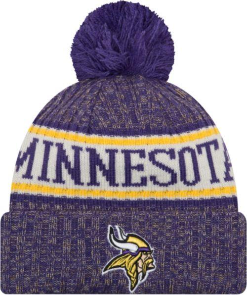 New Era Men s Minnesota Vikings Sideline Cold Weather Purple Sport ... 3deb500f212f