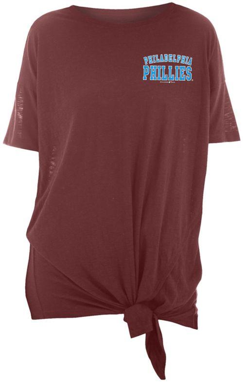 09a8368a9 New Era Women's Philadelphia Phillies Side Tie Shirt. noImageFound. Previous