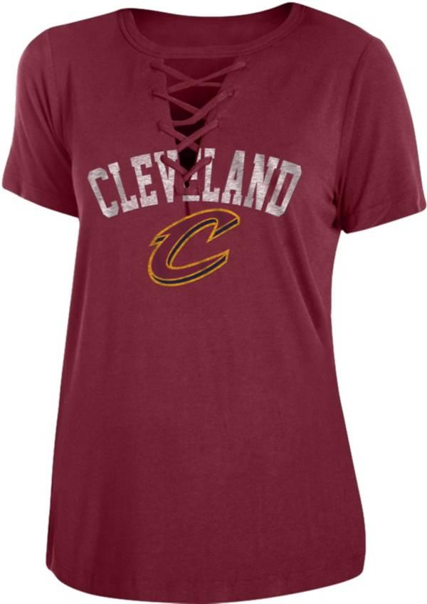 New Era Women's Cleveland Cavaliers Lace-Up V-Neck T-Shirt product image