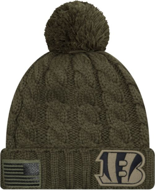 newest collection 982b6 07518 ... inexpensive new era womens salute to service cincinnati bengals olive  cuffed knit. noimagefound. previous