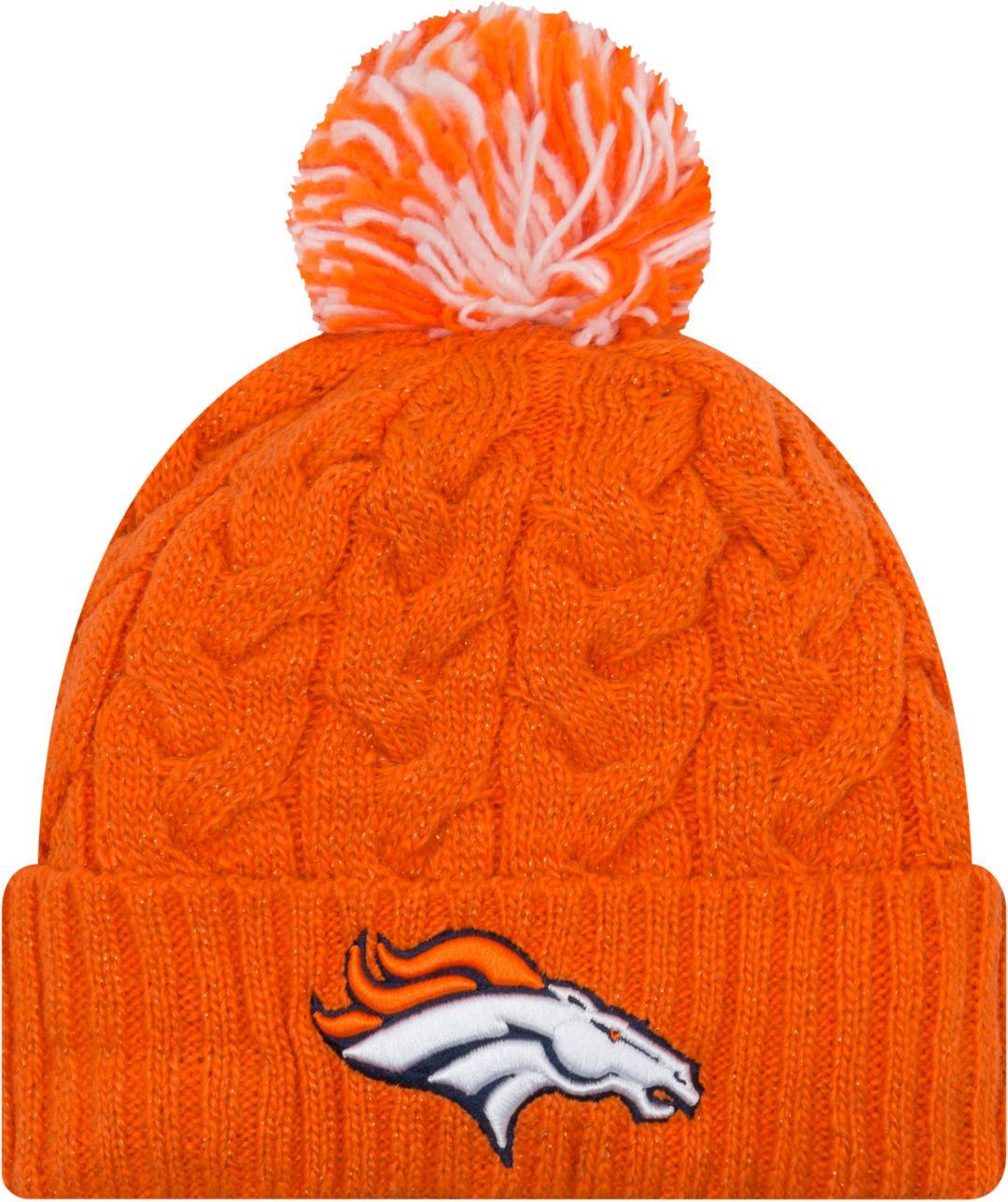 online retailer 33ab5 c4848 New Era Women s Denver Broncos Cozy Cable Orange Pom Knit. noImageFound.  Previous