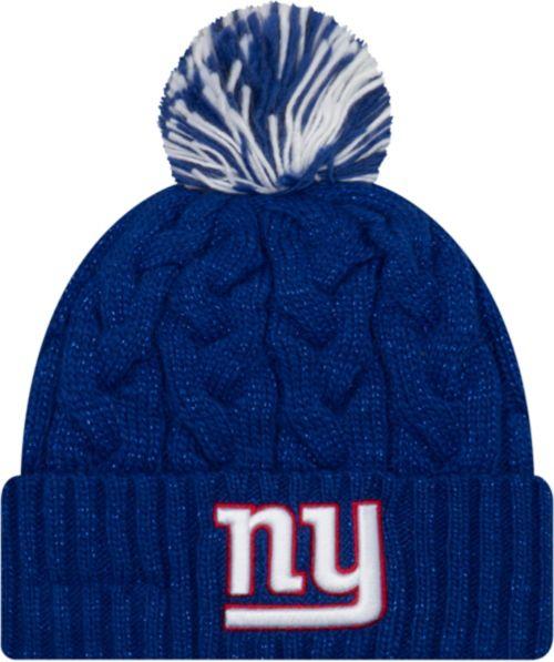 dd27d439c New Era Women's New York Giants Cozy Cable Blue Pom Knit | DICK'S ...