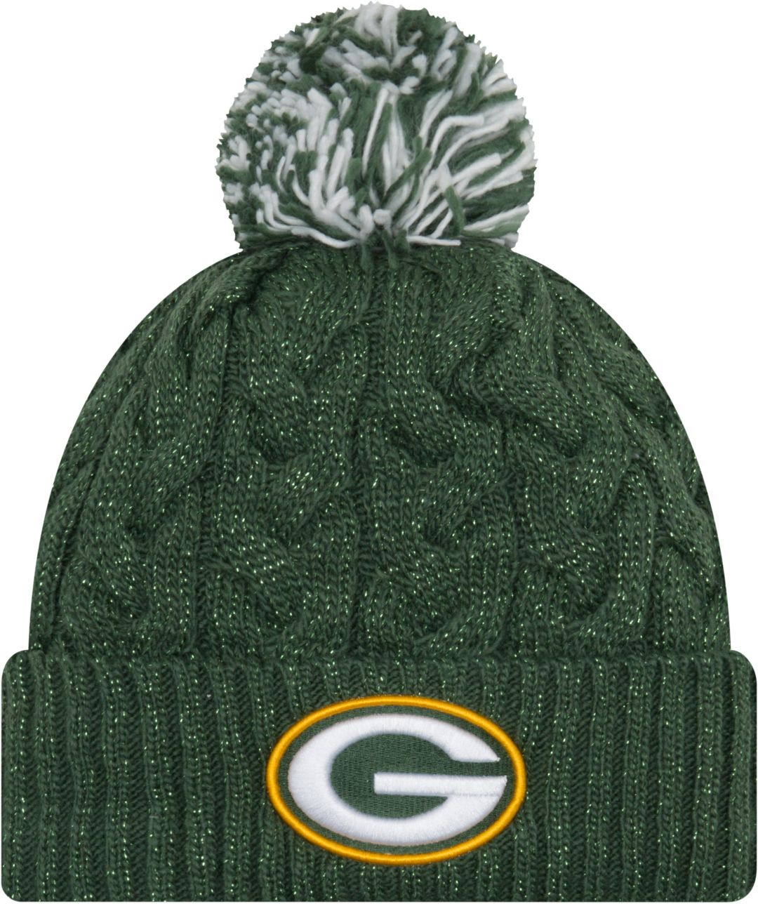6b486647 New Era Women's Green Bay Packers Cozy Cable Green Pom Knit. noImageFound.  Previous