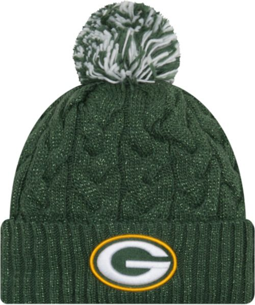 aa0f1767c01 New Era Women s Green Bay Packers Cozy Cable Green Pom Knit. noImageFound.  Previous