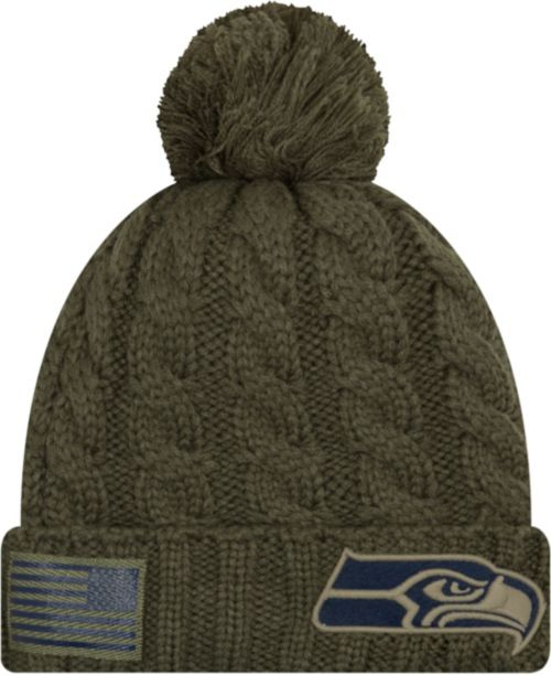 ceac9a4ffde New Era Women s Salute to Service Seattle Seahawks Olive Cuffed Knit.  noImageFound. Previous
