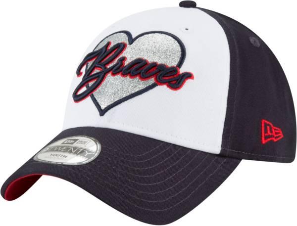 New Era Youth Atlanta Braves 9Twenty Sparkly Fan Adjustable Hat product image