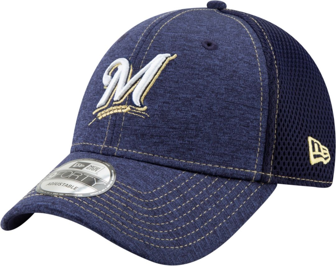 the latest 00dd2 bf631 New Era Youth Milwaukee Brewers 9Forty Team Tread Adjustable Hat.  noImageFound. Previous