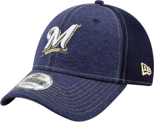 414b1b703373c New Era Youth Milwaukee Brewers 9Forty Team Tread Adjustable Hat ...