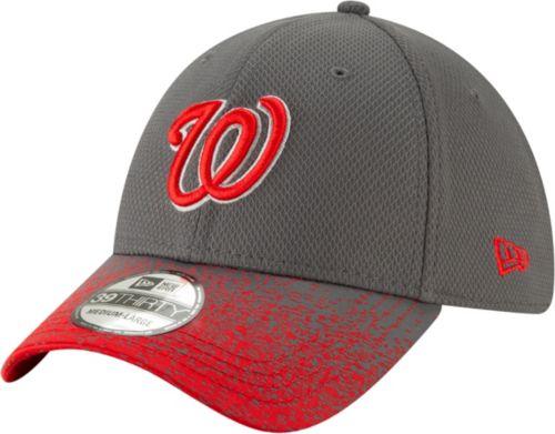 f04e12e2a9286 New Era Youth Washington Nationals 39Thirty Blur Visor Stretch Fit Hat.  noImageFound. Previous