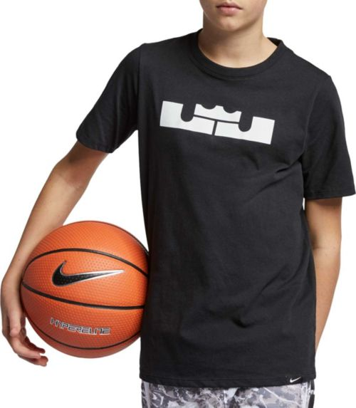 409afc347c73 Nike Boys  Dri-FIT LBJ Crown Logo Graphic Tee