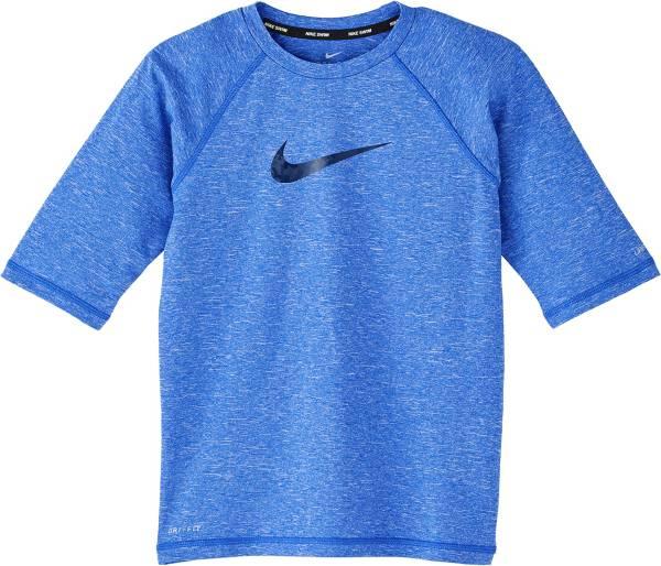 Nike Boys' Heather Camo Swoosh Half Sleeve Hydro Rash Guard product image