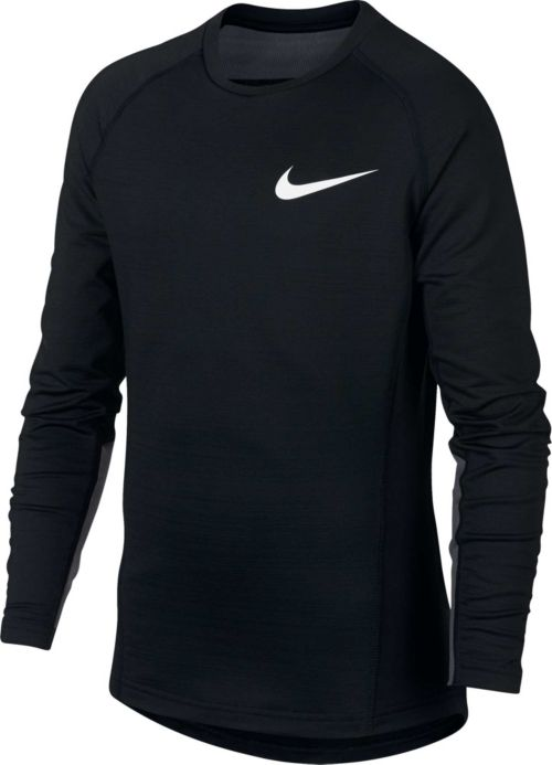 5bcd5b33 Nike Boys' Pro Warm Long Sleeve Crew Neck Shirt. noImageFound. Previous
