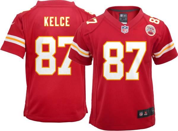 Nike Boys' Kansas City Chiefs Travis Kelce #87 Red Game Jersey product image