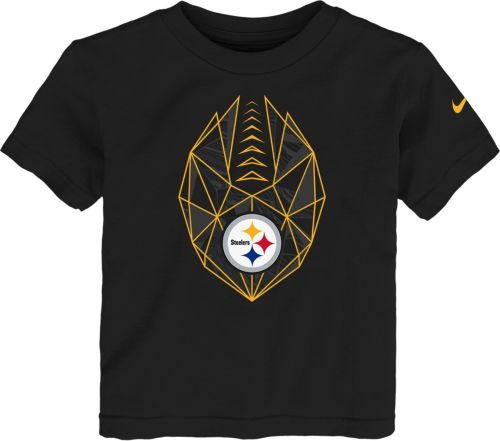 16d14d456 Nike Boys  Pittsburgh Steelers Football Icon Black T-Shirt