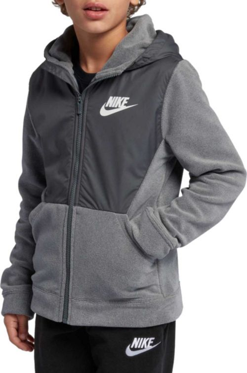 a4f94e70369d Nike Boys  Sportswear Polar Fleece Full-Zip Hoodie. noImageFound. Previous