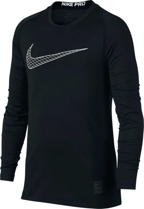 8cccf239 Nike Boys' Pro Fitted Long Sleeve Shirt. noImageFound. Previous