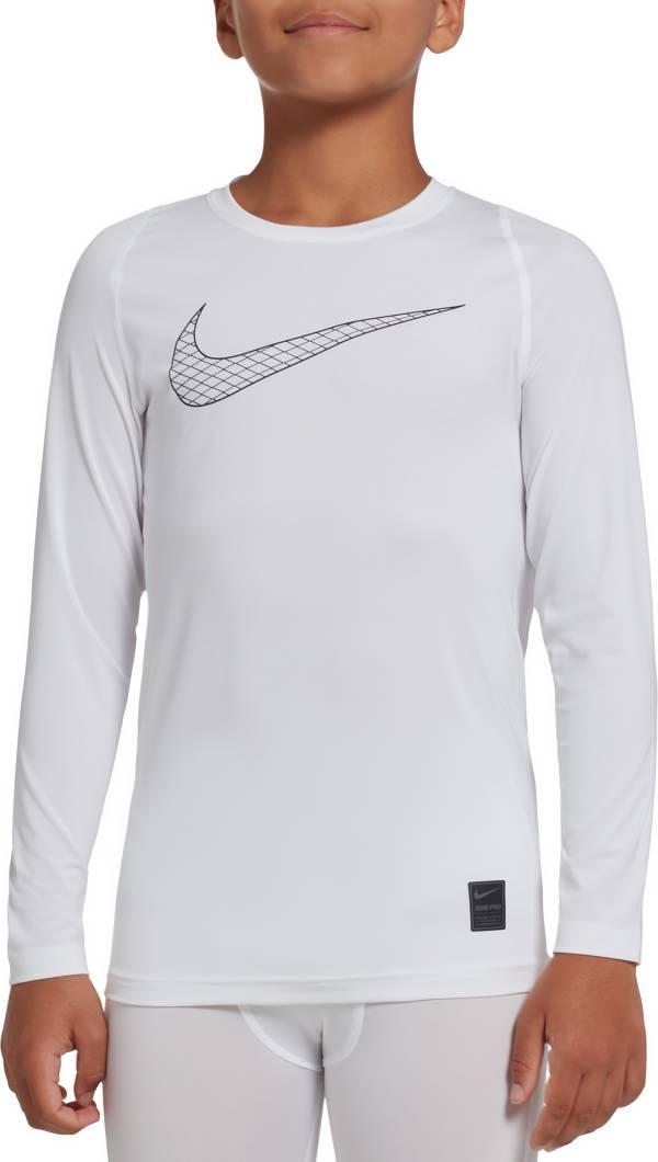 Nike Boys' Pro Fitted Long Sleeve Shirt product image