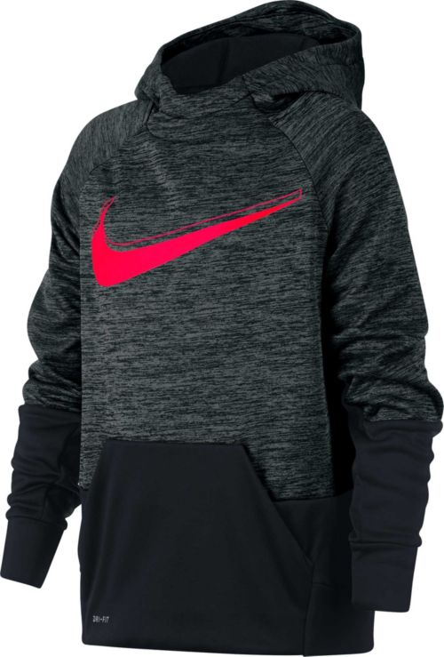 28a0887c3a10 Nike Boys  Therma Heathered Graphic Hoodie. noImageFound. Previous