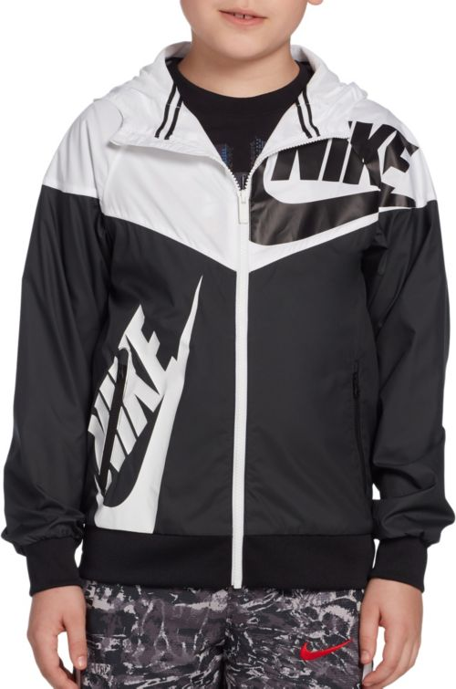 240cd42bc1b406 Nike Boys  Sportswear Graphic Windrunner Jacket. noImageFound. Previous