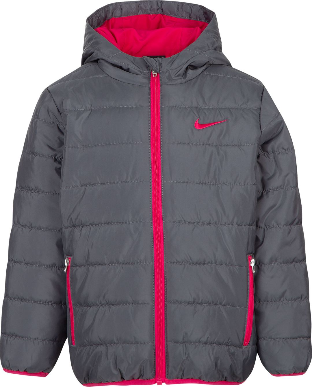 ecb50ffc41754 Nike Girls' Polyfill Quilted Insulated Puffer Jacket