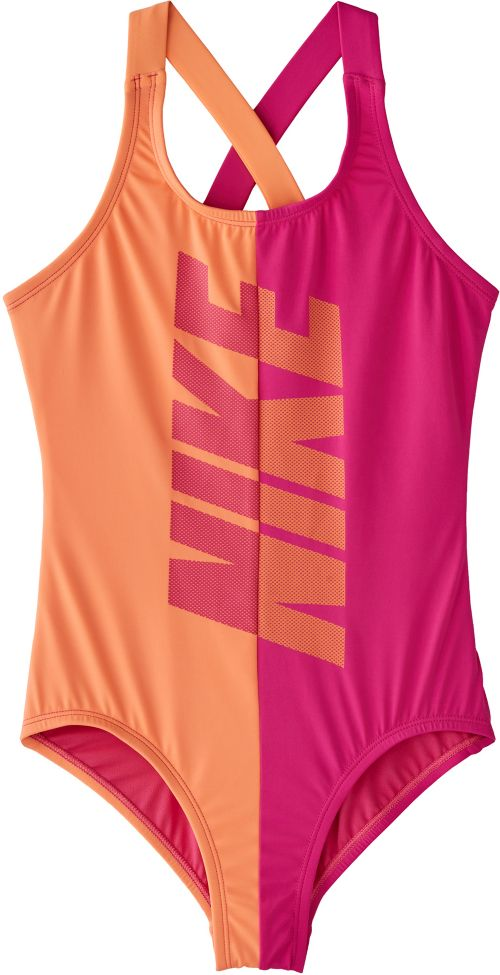 47e166ad9f825 Nike Girls' Rift Crossback One Piece Swimsuit. noImageFound. Previous